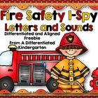 Fire Safety I-Spy Letters and Sounds-Differentiated and Aligned