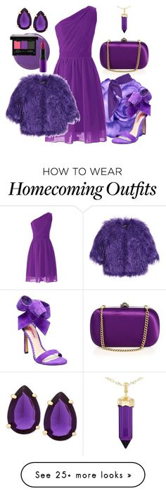 """Purple"" by andra-andu on Polyvore featuring Gucci, Shrimps, Betsey Johnson, Balmain, T Tahari, Simone I. Smith, NYX and MAC Cosmetics"