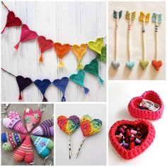 If you love to crochet you are going to flip out over how cute these heart shaped crochet projects are!! Great for beginners and those more experienced.