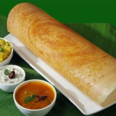 A Masala dosa is South Indian, fermented crepe made from rice thrash and black lentils. Masala Dosa is typically served with sambar and tomato chutney. Indian Snacks, Indian Food Recipes, Vegetarian Recipes, Cooking Recipes, Masala Dosa Recipe, Garam Masala, Indian Street Food, South Indian Food, India Food