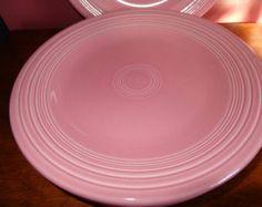 "Vintage Rose Pink Fiesta dinner plates 10 1/2"""