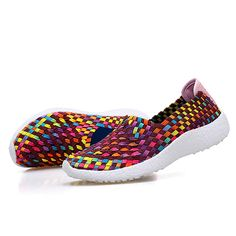 Sale 10% (27.99$) - Women Hollow Out Casual Slip On Knitting Outdoor Shoes