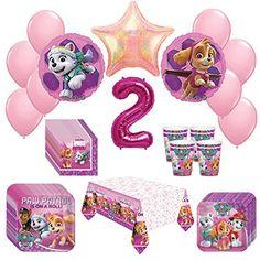 Girl Pups Paw Patrol Skye & Everest 2st Birthday Party Pa...