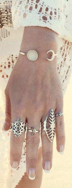 gypsy spirit style rings for a boho chic look. For the BEST Bohemian fashion ideas FOLLOW now More