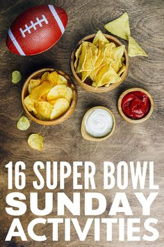 16 Super Bowl Games For All Ages | If you're looking for activities and games to play on Super Bowl Sunday, this post has tons of fun family-friendly ideas to inspire you! From minute to win it games, to free printable bingo board play cards, to prize ideas everyone will love, this collection of Super Bowl Sunday activities for kids and adults is your ticket to hosting a party that will be enjoyed by all ages and stages! Super Bowl Drinking Game, Super Bowl Prop Bets, Prize Ideas, Cupcake Diaries, Sunday Activities, Bingo Board, Making Homemade Pizza, Minute To Win It Games, Super Bowl Sunday