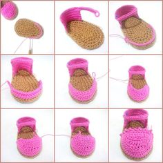 Baby Espadrilles Free Pattern Bebek Espadril Yapımı Not in English good pictures though Discover thousands of images about Crochet Baby Espadrilles Free Pattern Billedresultat for espadrilles boots tutorial If you have a baby you should read this artic Crochet Bebe, Diy Crafts Crochet, Love Crochet, Crochet For Kids, Crochet Dolls, Crochet Projects, Crochet Baby Sandals, Booties Crochet, Crochet Baby Clothes