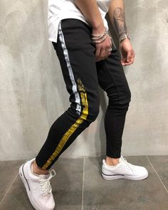 New DASHING Hip Hop Gold Silver Coating Printed Joggers Denim Pants for Men Upto Off – Men's style, accessories, mens fashion trends 2020 Jeans Levi's, Black Denim Jeans, Striped Jeans, Denim Pants, Skinny Jeans, Ankle Jeans, Suit Pants, Denim Jeans Men, Jeans Women