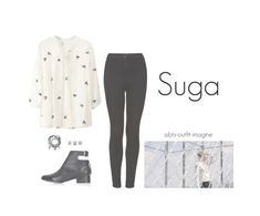 """young forever / (suga)"" by bts-outfit-imagine ❤ liked on Polyvore featuring art, simple, kpop, korean, bts and Suga"