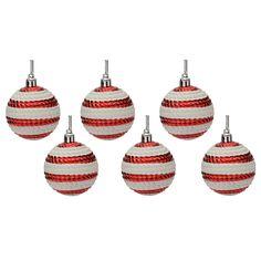 Camicado - Candy Cj Bolas Decorativas 6cm 6pc Vebr