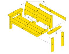 Build A Garden Bench   Free Project Plan   YellaWood®