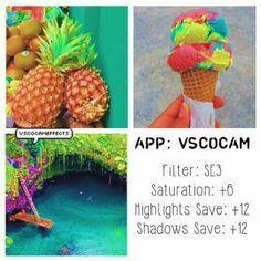 SE3 Saturation +6 Highlights Save +12 Shadows Save +12
