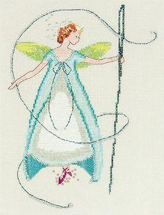 Needle Fairy (Stitching Fairies) - Cross Stitch Pattern  by Nora Corbett