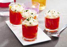 Verrines de poivrons et tomates, chantilly au basilic | Croquons La Vie - Nestlé