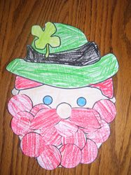leprechaun scissor practice - printable circles for the beard to color and cut