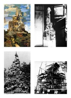 TALL PILES From Left to Right: Nils Ole Lund, The Tower of Babel... #architecture #drawing Pinned by www.modlar.com
