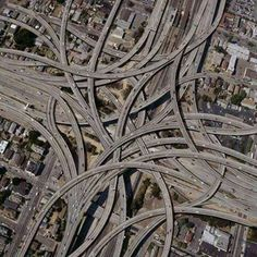 "Dallas interchanges! This is the classic definition of the ""Mixmaster"" of highways! This is nuts!"