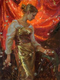 "Daniel F. Gerhartz (American, born 1965) ""Silk"" #painting #Art pls visit us https://www.facebook.com/peterSarts ♡"