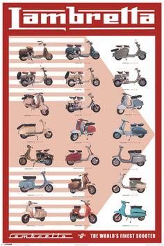 Lambretta E #166C1FF poster                                                                                                                                                      Mais