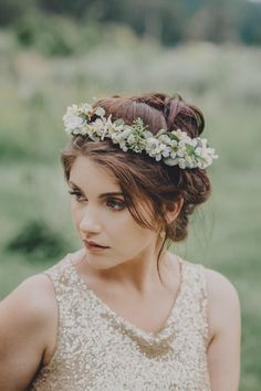 Ivory Freesia, Babies Breath and Seeded Eucalyptus Silk Flower Hair Crown by OlannHandmade on Etsy https://www.etsy.com/listing/384689352/ivory-freesia-babies-breath-and-seeded