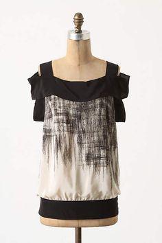 NWT $118 Anthropologie Maeve Scrawled Rain Blouse Size 2 #Maeve #Blouse #Casual