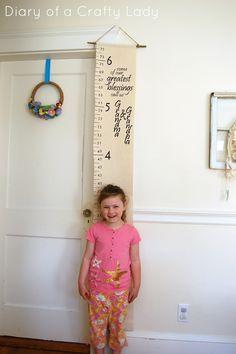 DIY Canvas Growth Chart
