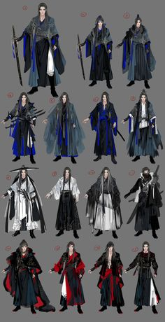 Character Outfits, Character Art, Samurai Artwork, Fantasy Costumes, Chinese Clothing, Fantasy Dress, Fashion Design Sketches, Drawing Clothes, Anime Outfits