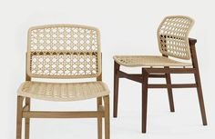 Patio Chair by Studio Hannes Wettstein for Accademia Outside Furniture, Space Furniture, Patio Chairs, Dining Chairs, Dining Room, Rattan Sofa, Chair Design, Armchair, House Design