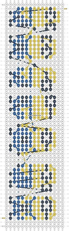 Alpha Friendship Bracelet Pattern #10772 - BraceletBook.com