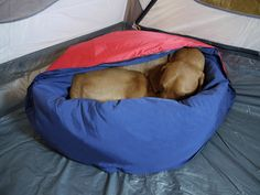 NobleCamper: dog bed/sleeping bag for camping/backpacking trips