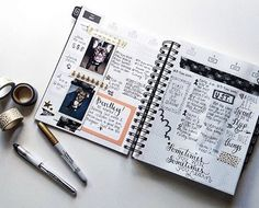 """love what @dreamingsleepers had to say about her first week using her #gettoworkbook: """"Figuring out how I want to use this bad boy. A little bit of planner, a little bit of journaling and a lot of artsy additions. Plus lists. Lists forever."""" ❤️ I always say this but remember, there is no right or wrong way to use the planner, just whatever makes sense for you. thanks for sharing, @dreamingsleepers! Thanks For Sharing, Bad Boys, Planners, Journaling, Artsy, Thankful, How To Plan, Books, Libros"""