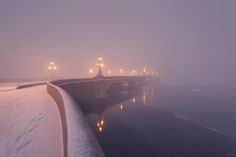 thebeautyofrussia:  Fog in the Trinity Bridge, Saint Petersburg, Russia by EGRA