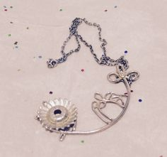 Necklace Flower - silver 925