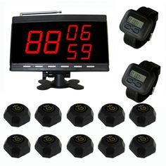 Wholesale SINGCALL.Table Waiter Call Paging System for Customer Service.Pack of 10 Bells and 2 Watch Receivers and 1 Display. [9300B 6600 560B 1-2-10]- US$389.99 - singcall.com