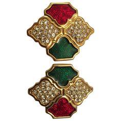 gold Metal SWAROVSKI Earrings - Vestiaire Collective