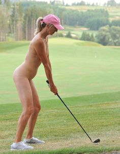 Hot nude golfer with a great stance.