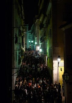 Bairro Alto at night, Lisbon. So epic. No better place on Earth to party.