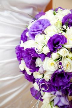 purple lisianthus and white roses teardrop with silver swarovski swirls bouquet switch the purple to pink Wedding Things, Wedding Stuff, Dream Wedding, Wedding Ideas, Wedding Bells, Wedding Gowns, Wedding Cakes, Flower Bouquet Wedding, Rose Bouquet