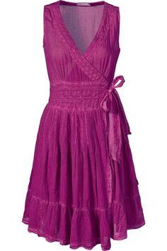fairy wrap dress & v-neck