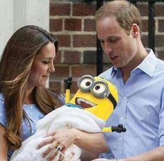 The royal baby is here…haha I would not be upset if my child was a minion everyday would be a party and all I would have to buy is ice cream and bananas