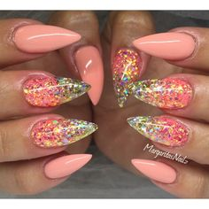 Mango And Glitter  by MargaritasNailz from Nail Art Gallery