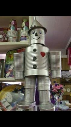 Tin man made out of cans (:
