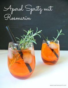 Aperol Spritz mit Rosmarin  #Cocktail #Rezept #Aperol #Rosmarin