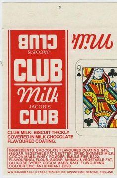 Jacob's Milk Club Biscuit 1980s
