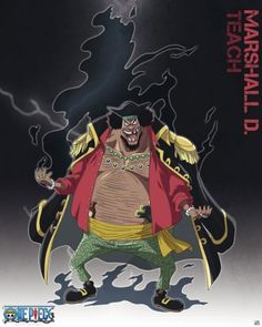 One Piece- Marshall D. Teach (Dark Dark Fruit) Logia Type (Tremor Tremor Fruit) Paramecia Type