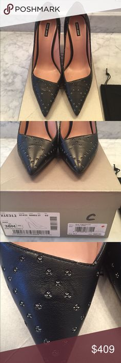 """Giorgio Armani X1E312 Style Black Heels Brand new in the box. Never worn outside. Comes with dustbag and certified sticker that it is authentic as shown in last picture. 4"""" Heels. Made in Italy. 100% Leather. Bought in an actual Giorgio Armani store. Giorgio Armani Shoes Heels"""