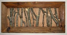 Coat rack - barn board and twigs - $75.00 : Glass Moose Cart, handcrafted glass, beads/supplies, jewelry, wood & metal art, signs