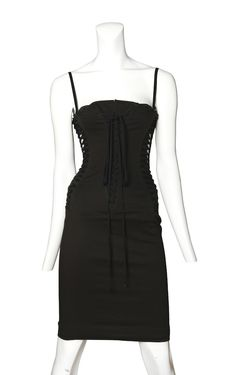 Dolce and Gabanna Black Corset Dress at Resurrection