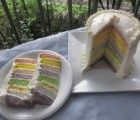 Organic Rainbow Cake