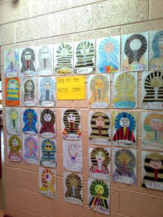 Egyptian Mask Display, Classroom Display, class display, history, mask, Egyptian, Egypt, Gold,  past, old, Early Years (EYFS), KS1 & KS2 Primary Resources