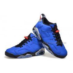 "12244145cad997 Air Jordan 6 Retro Low ""Eminem"" Custom Royal Blue Black-Grey Online"